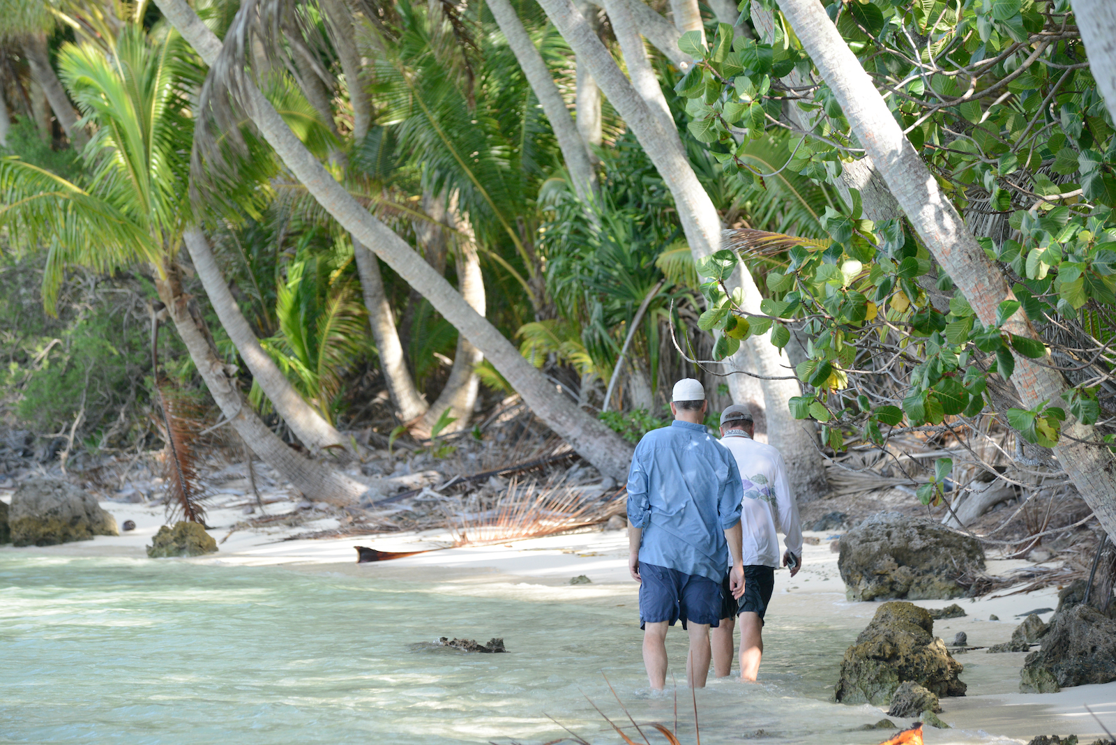 Brando guests tour the atoll with Tetiaroa Society guides