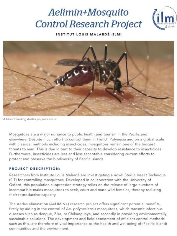 read the pdf: Mosquito control research project