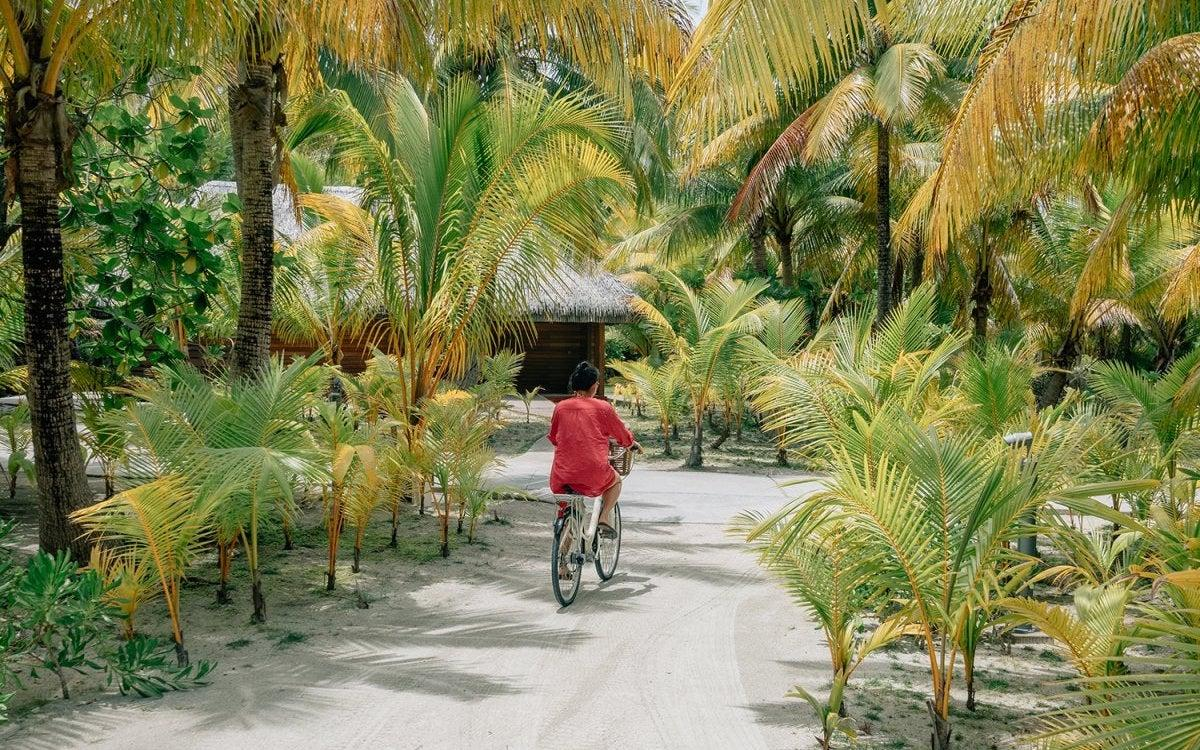 bike ride on Tetiaroa