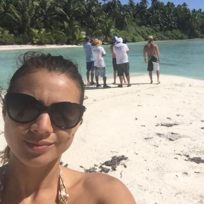 Tetiaroa Society's communications person - at work