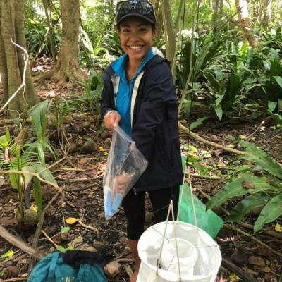 In the field with ILM - preparing a mosquito trap